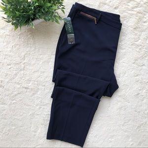 Ralph Lauren navy blue wool dress pants 22